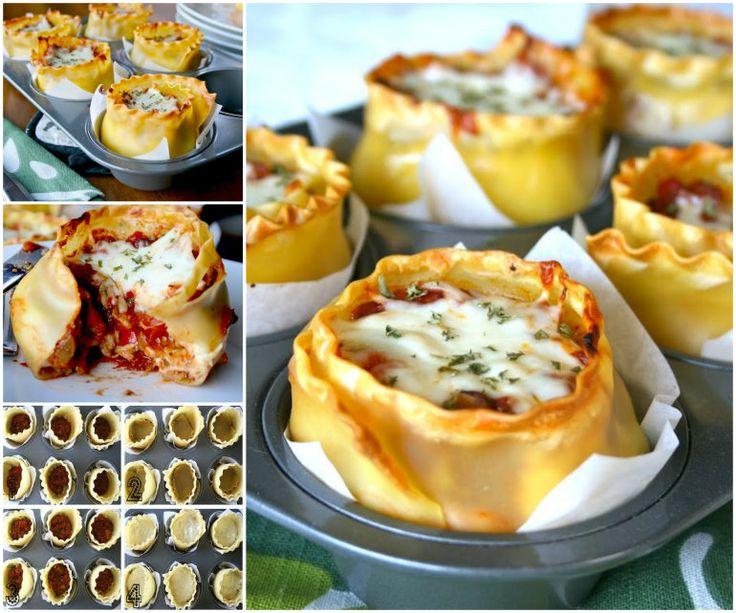 Muffin Tin Lasagna Cups