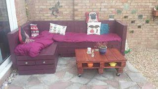 Voilà d'autres idées de salon de jardin design pour agrémenter votre extérieur ~ Idées Et Tuto De Créations d'Objets En Palettes