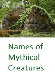 A wide range of names for creating characters. http://bryndonovan.com/2015/09/24/master-list-of-mythical-creatures-and-beings/#more-3050
