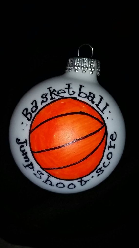 This personalized hand-painted, custom basketball Christmas ornament is for your favorite player, coach, trainer, fan, or athlete. A great way to