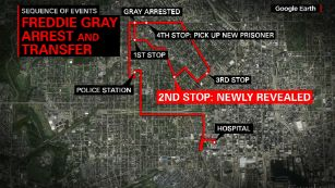 Report: Freddie Gray sustained injury in police van - Police told reporters they have learned of an additional stop the van made as it was traveling to a police precinct.