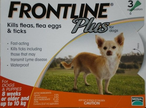 1 X Frontline Plus for Small Dog Upto 10kg (22lbs) - 3 Packs