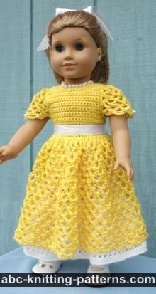 American Girl Doll Princess Dress - Lots of free doll dress patterns!