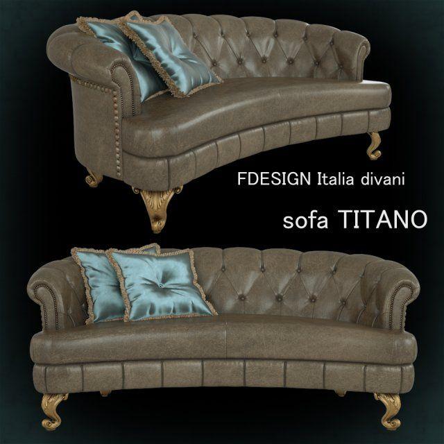 Sofa Titano 3D Model .max .c4d .obj .3ds .fbx .lwo .stl @3DExport.com by viiik33