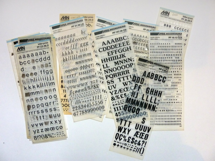 turning pages: Remember these?  MECANORMA letter-press!
