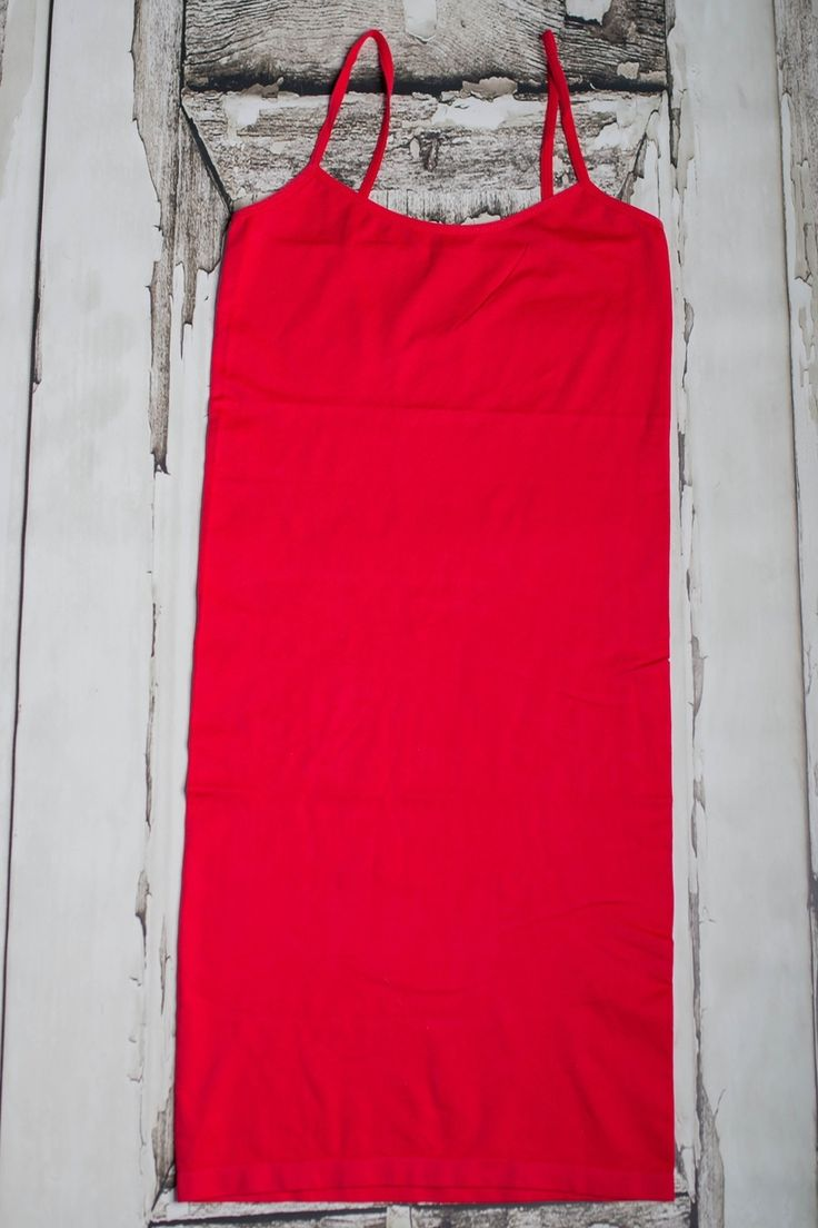 Red Cami Dress - The ZigZag Stripe - Women's Boutique