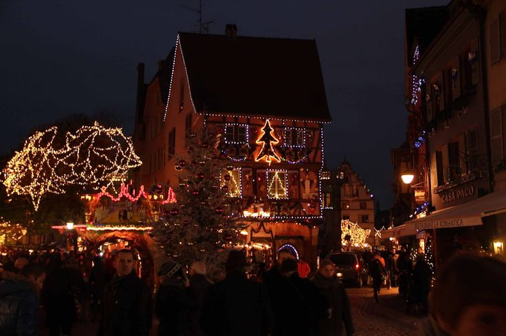 Picture by night from Colmar