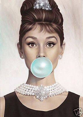AUDREY HEPBURN * QUALITY CANVAS ART PRINT in Home & Garden, Home Décor, Posters & Prints | eBay