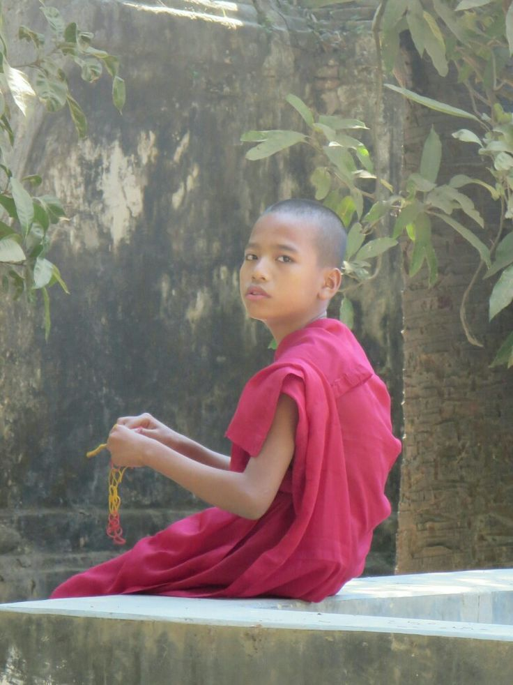 Young monk in Inwa, Myanmar