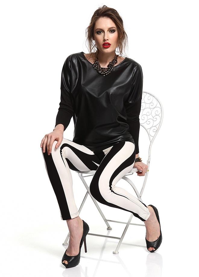 SATEEN Önü derili bluz Markafoni'de 59,90 TL yerine 29,99 TL! Satın almak için: http://www.markafoni.com/product/3411013/