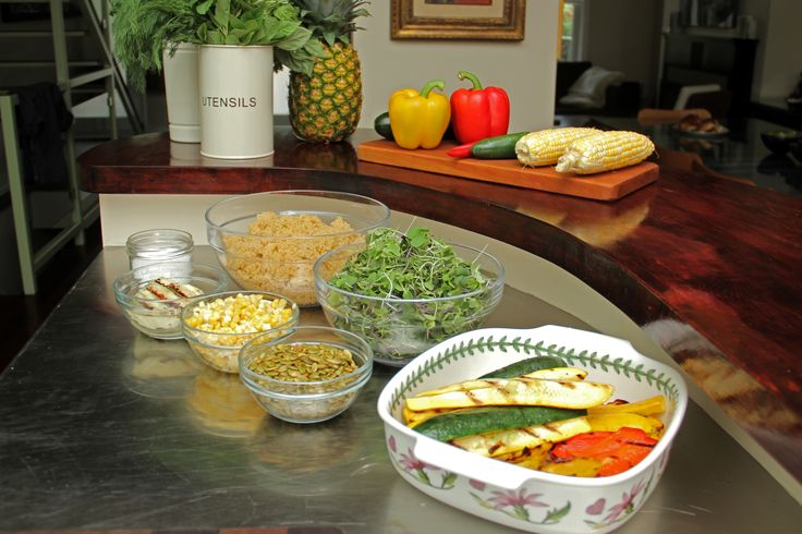 Mis en Place for Summer Quinoa Salad!