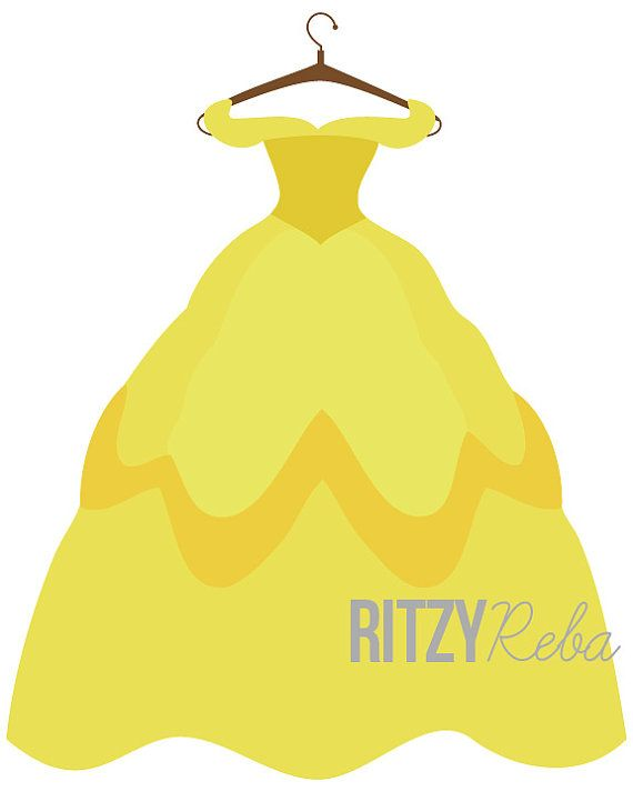 Disney Belle Princess Dress Print Beauty And The by RitzyReba
