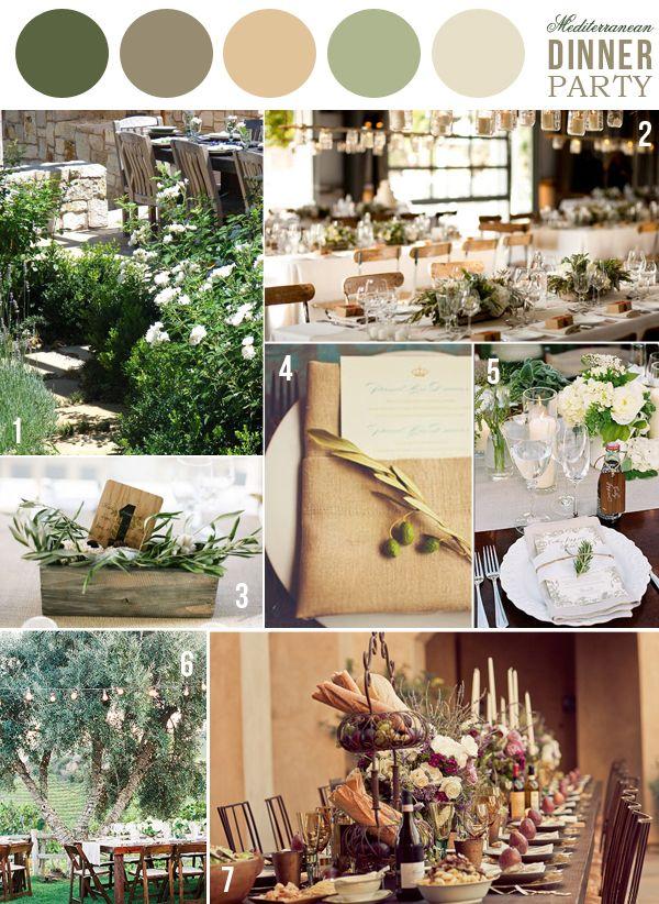 thanksgiving tableMediterranean Decor, Color Palettes, Color Inspiration, Colors Palettes, Inspiration Dinner, Green Dinner, Mediterranean Dinner Parties, Mediterranean Colors, Colors Inspiration