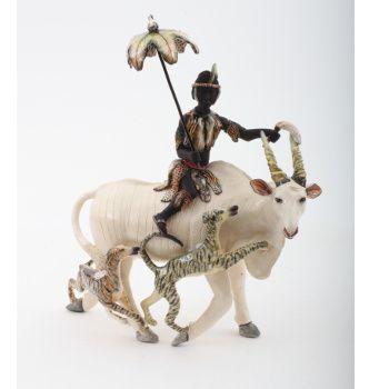 Ardmore Ceramics Eland Rider, proudly Midlands Meander www.midlandsmeander.co.za