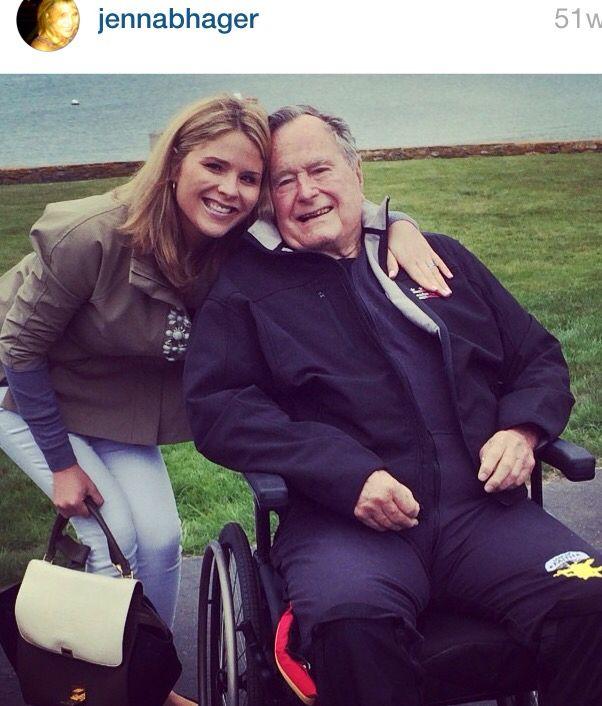 Jenna with Gramps President Bush