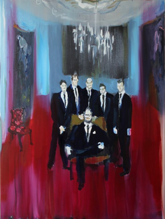 "Bradley Wood; Oil 2013 Painting ""The boys"""
