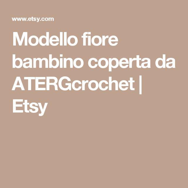 Modello fiore bambino coperta da ATERGcrochet | Etsy