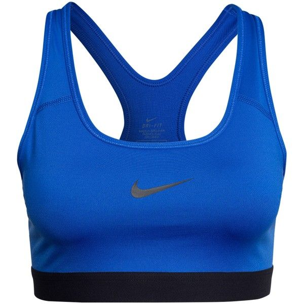 Nike Pro Classic Bra (€41) ❤ liked on Polyvore featuring activewear, sports bras, royal, sports fashion, womens-fashion, nike sportswear, blue sports bra, racerback sports bra, nike and racer back sports bra