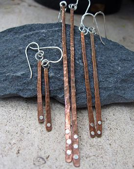 Mastrich Metals - Handmade Sterling Silver-Mixed Metal Jewelry Maui | Mixed Metal Earrings