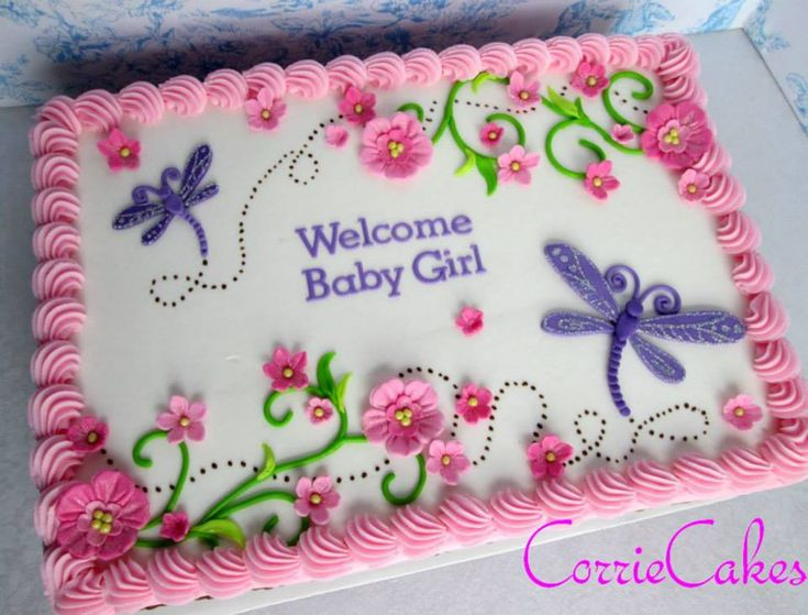 For when you need a cute Girly sheet cake - by CorrieCakes