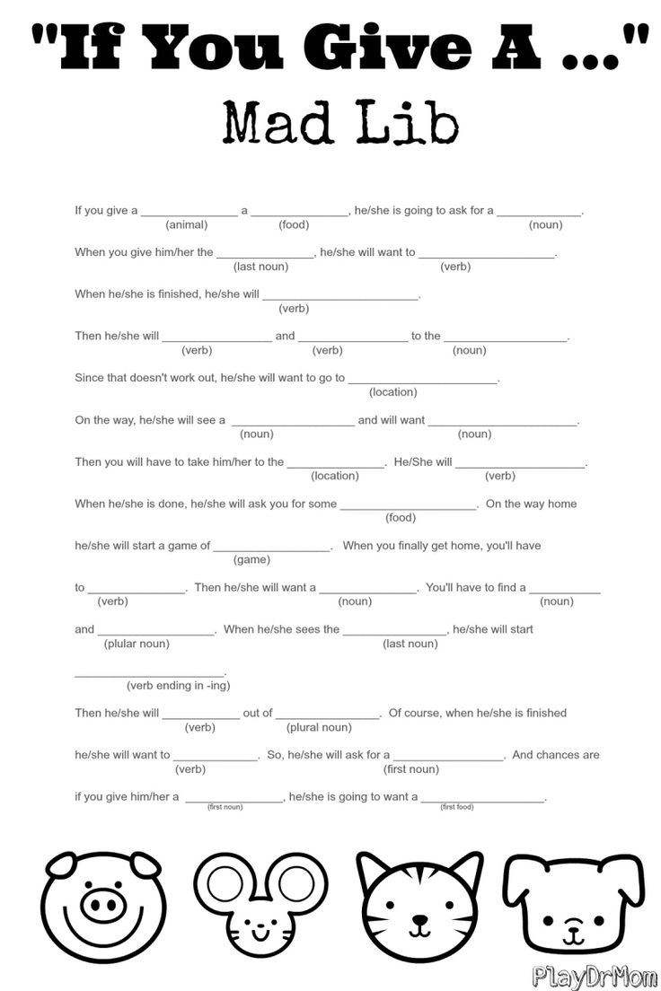 Légend image with printable funny mad libs