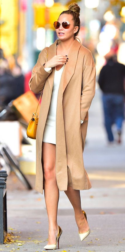Chrissy Teigen's Chic Maternity Style   InStyle.com