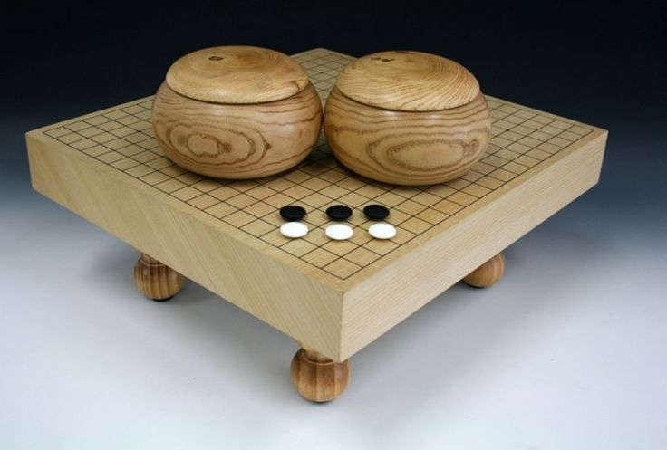 Go board game Set Table Traditional Japanese Baduk Game Floor Badook Stand