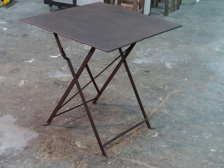 Mesa plegable forja fabricada en barcelona por dadra for Mesas diseno barcelona