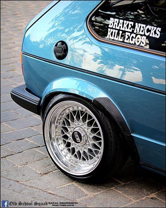 Volkswagen Golf mkI w BBS's