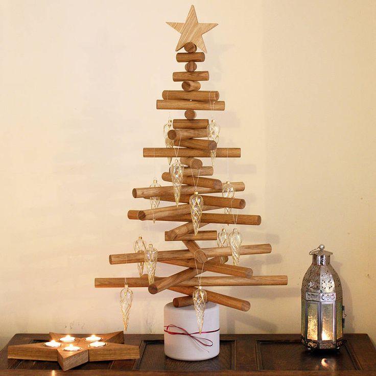 oak christmas tree by a+b furniture | notonthehighstreet.com