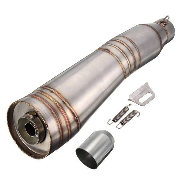 51mm stainelss tubo de escape del silenciador de acero deslizarse en la bici de la calle de carreras de motos