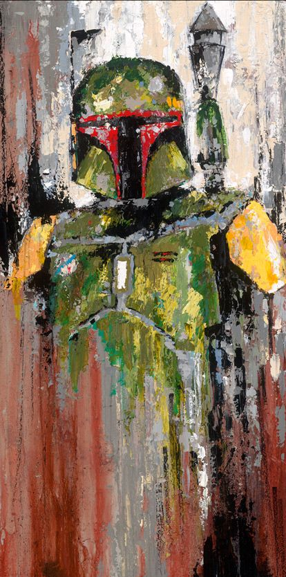 Son of Jango - by Luis Berrosgiclee on canvas