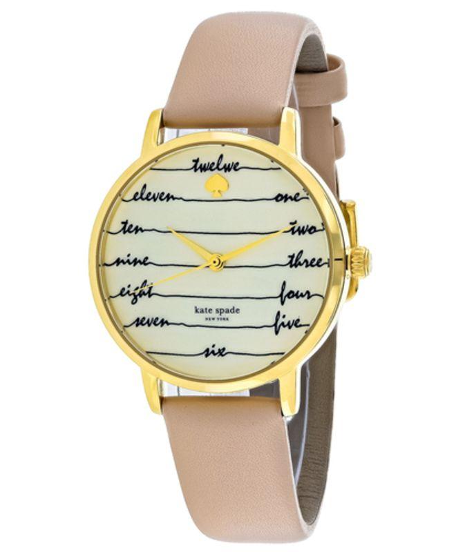Kate Spade Womens Gramercy Watch in Beige KSW1059 | Buy Watches