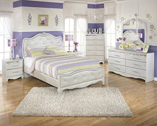 Create a bedroom decor that is worthy of the princess in your life with the elegant beauty of the Julia youth bedroom collection. With the silver pearl finish of the 3D press technology creating smooth edges and a unique design along with the flowing button tufted upholstered headboard adorned... more details available at https://furniture.bestselleroutlets.com/children-furniture/bedroom-sets-children-furniture/product-review-for-julia-silver-and-pearl-girls-full-size-bedroom