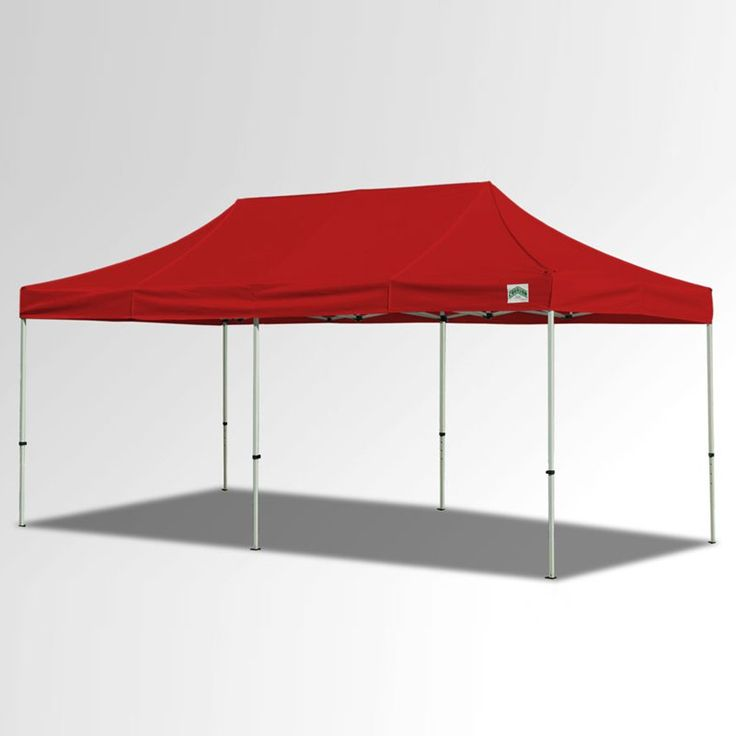 Caravan Sports 10x20 ft. Aluma 500 Denier Heavy Duty Commercial Canopy Red - 22003105032