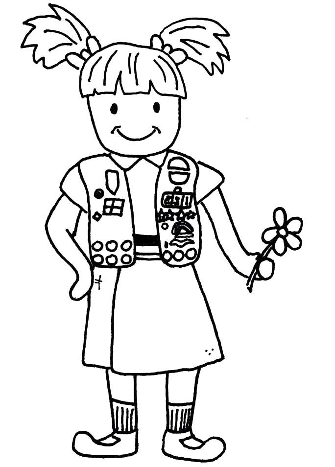 It's just a graphic of Rare Girl Scout Coloring