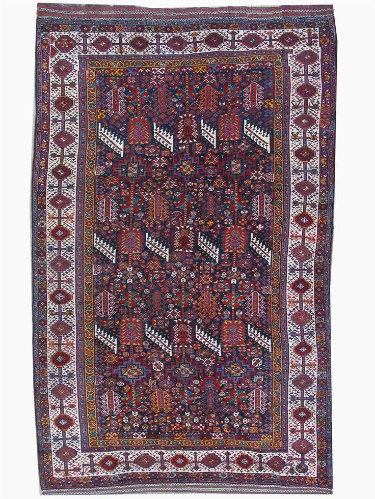 """Antique Persian Shekarloo Ghashghai Tribal Rug 5'8""""x 9'6"""" I RUG Curator"""