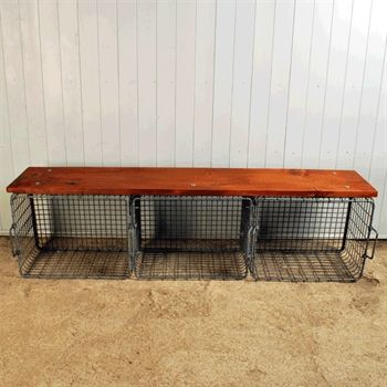 Shoe-Locker Bench - Reclaimed Furniture - Original House