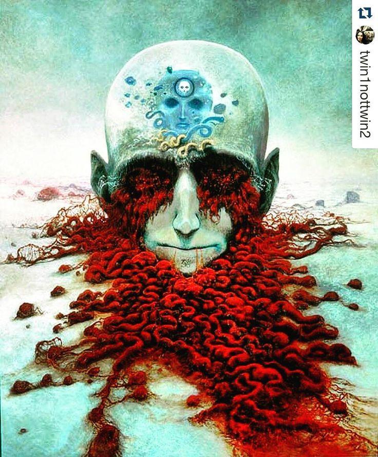 Dobry Wieczór. #beksinski #Repost @twin1nottwin2 #encek #kulturaKRK  #zdzislawbeksinski  #sciencefiction #mondayfeels