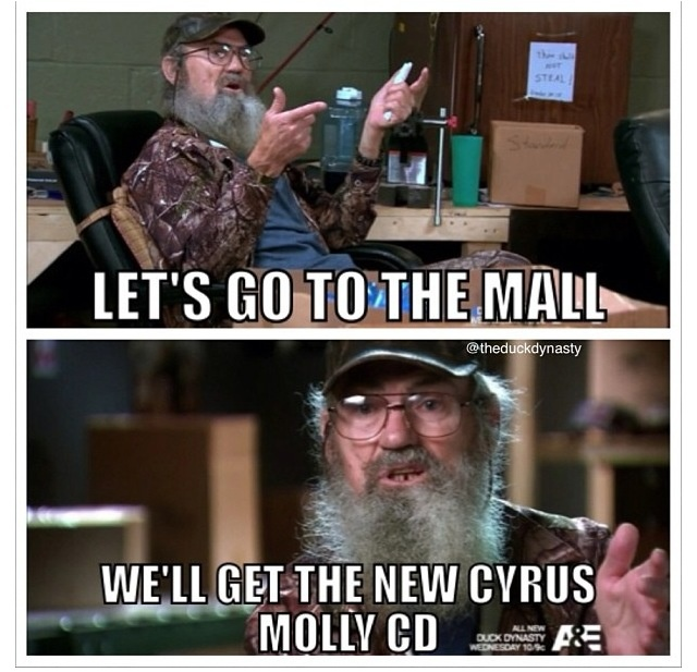 Si and his Cyrus Molly CD  Duck Dynasty