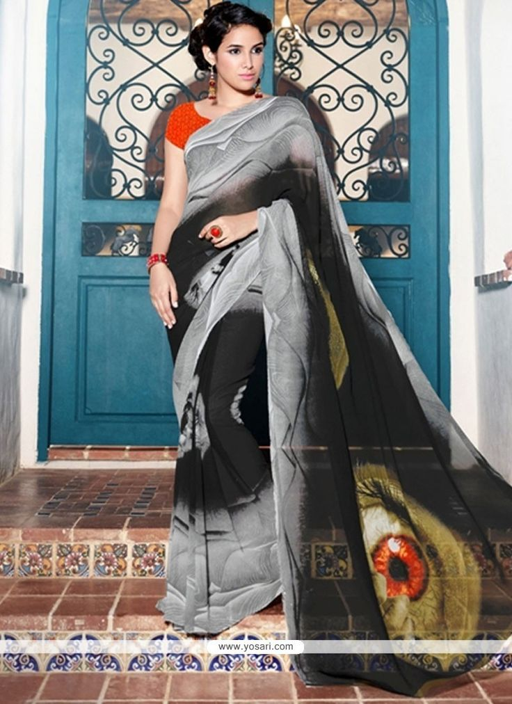 Outstanding Print Work Printed Saree Model: YOSAS0548