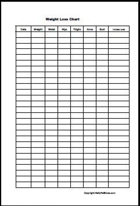 Free Printable Body Measurement Chart the printable weight loss