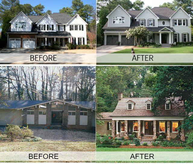 Before after a great way to update your home to sell for Redesign your home exterior