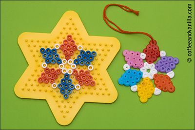 Christmas Decorations Made of Plastic Beads - Coffee and Vanilla