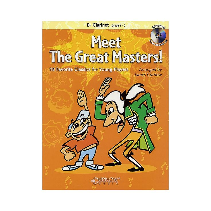 Curnow Music Meet the Great Masters! (Bb Clarinet - Grade 1-2) Concert Band Level 1-2