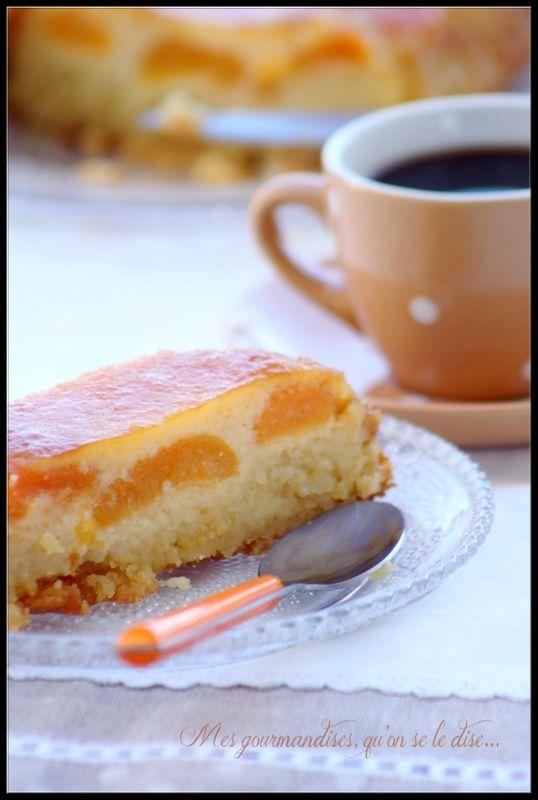 Moelleux aux abricots sans farine (sans gluten).