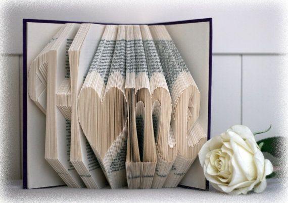 Il s'agit d'un modèle pliant pour plier un livre avec le mot « Home »  Exigences pour le livre : -Housse -Minimum de 524 pages -Environ 21,5 cm de haut  Matériel nécessaire : -Dirigeant ou carré -Crayon -Plier la jambe (facultative)  Tous mes modèles sont créés au moyen de la méthode de mesure et de marquage et sont exprimées en centimètres. Vous recevrez un fichier Pdf dans lequel toutes les tailles indiquent pour vos ouailles merveilleux livre propre. Vous n'avez aucune expérience avec…