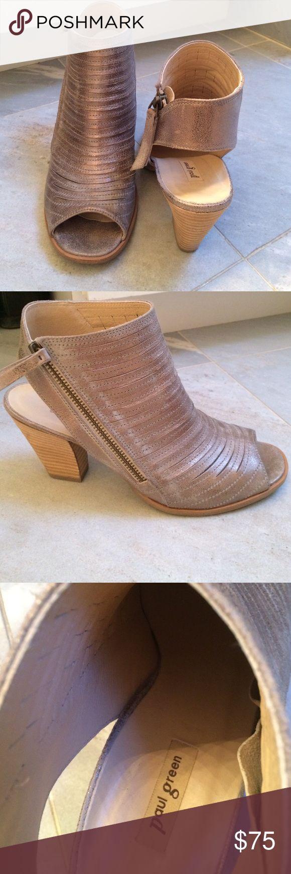 Paul Green shoes Bronze color sandals. Side zip. Worn only a few times. Perfect!! Paul Green Shoes Sandals