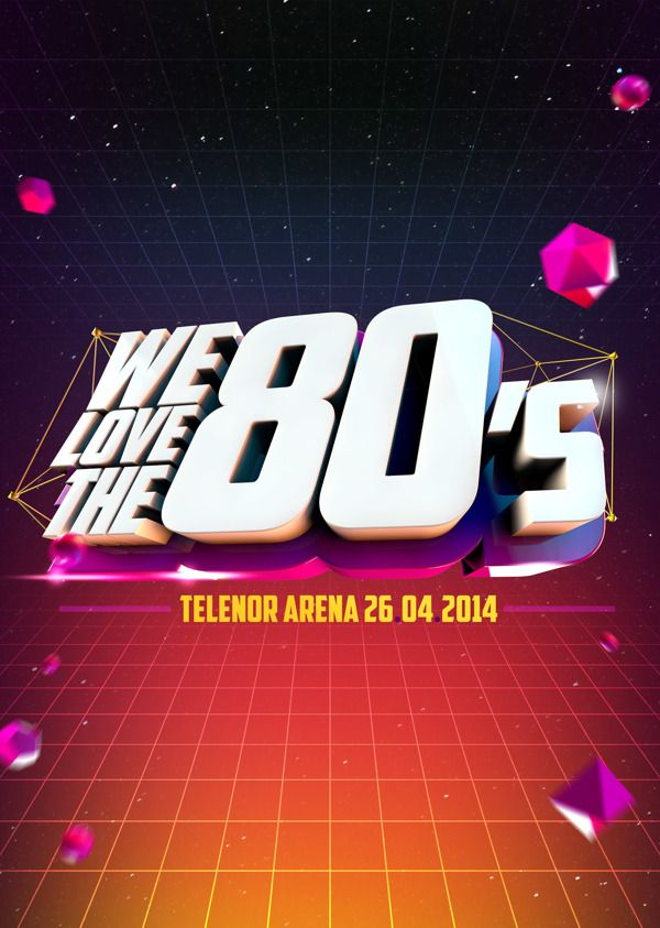 We Love The 80s by Edmond Yang, via Behance