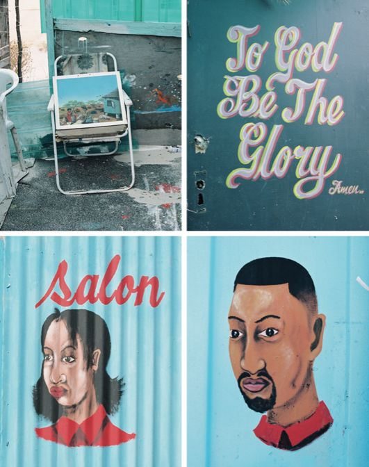 Art and design of South African Barbershops & Salons.